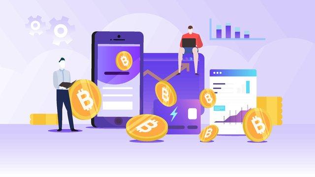 gió phẳng minh họa kinh doanh bitcoin Hình minh họa