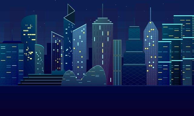 Gradient màu vector xây dựng hình bóng đêm minh họaVectơ  Minh  Họa PNG Và Vector illustration image
