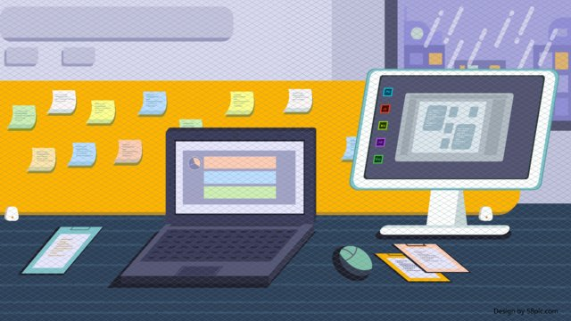 original vector office environment desk llustration image illustration image