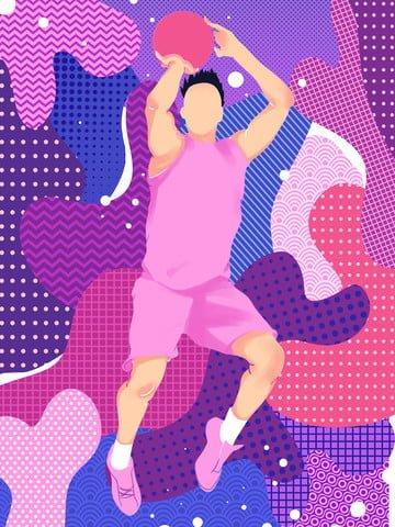 swim illustration of teenager playing basketball llustration image illustration image