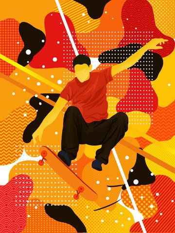 放浪夢スポーツスケートボード少年イラスト イラスト画像