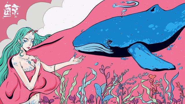 sleepwalking wonderland healing wind deep ocean whale illustrator imej keterlaluan