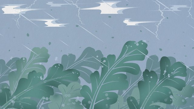 Fallen leaves and grass in the early autumn rain, White Dew, Early Autumn, Fall illustration image