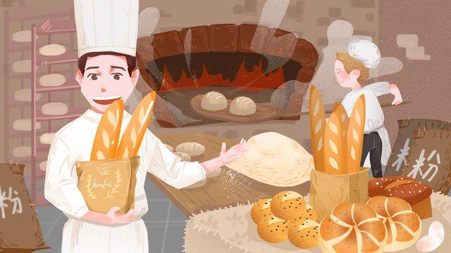 comida de inverno artesanal forno vintage torrada Material de ilustração