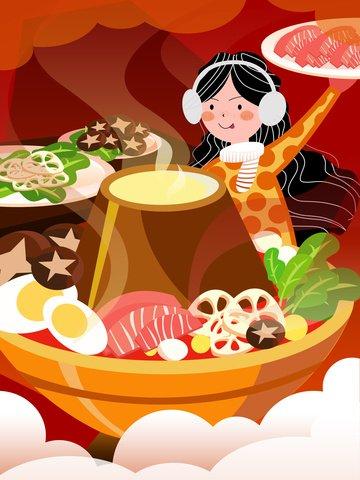nồi hấp thức ăn mùa đông Hình minh họa