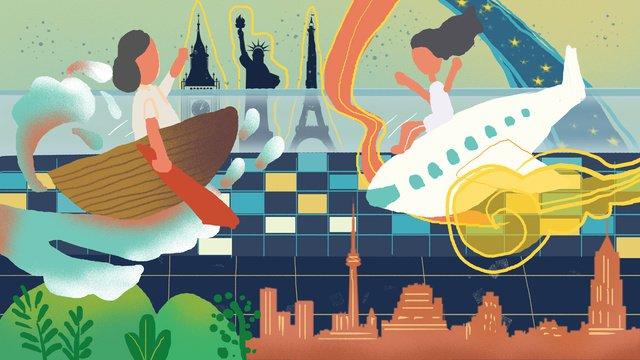 世界観光デーのクリエイティブイラスト世界観光デー  クリエイティブ  イラスト PNGおよびPSD illustration image