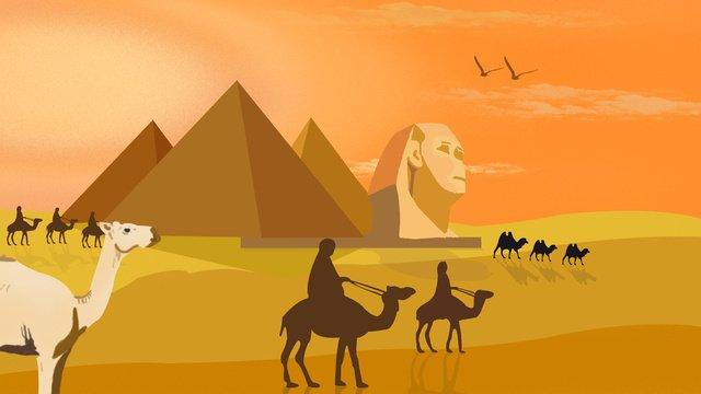 世界観光デーエジプトのピラミッド イラスト素材