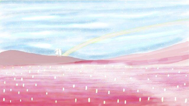Праздник середины осени fantasy river lights Абстрактные акварельные обои Ресурсы иллюстрации