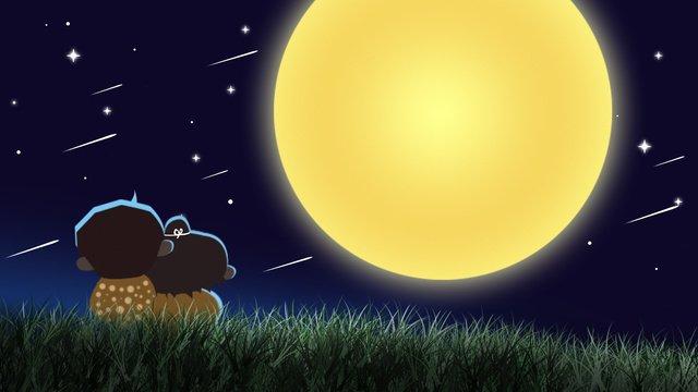 traditional festival mid autumn moon couple illustration llustration image illustration image