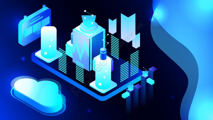 25d Semi Stereo Blue Technology Future Business Concept Vector Illustration, 2.5d, 2.5d, 25d llustration image