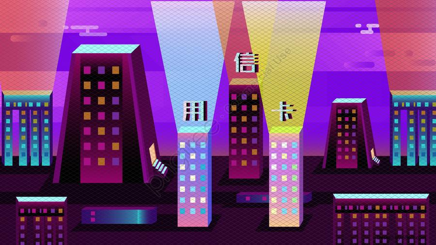 25d Internet Finance Business Office Credit Card Vector Illustration, 2.5d, 2.5d, Internet Banking llustration image
