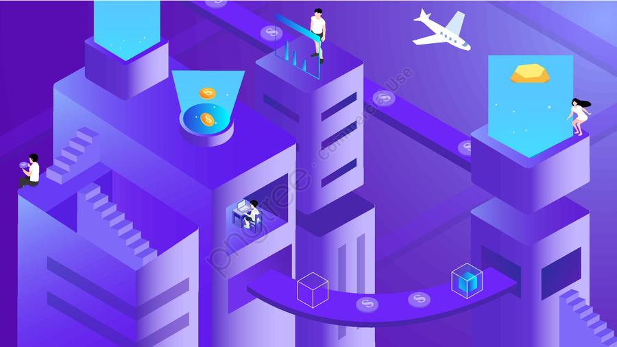2 5d финансовая страховка технология стерео иллюстрация фиолетовый градиент, 2.5d, финансовый, безопасности llustration image