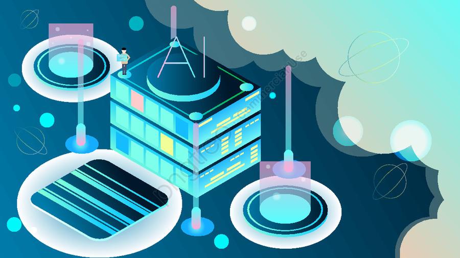 25d Business Ai Artificial Intelligence Technology Future Vector Illustration, 25d, 25d, 2.5d llustration image