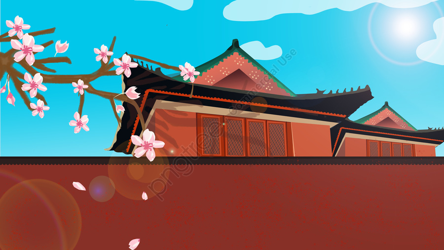 Chinese Style Forbidden City Ancient Architecture Illustration, Ancient Architecture, Illustration, Ancient Building llustration image