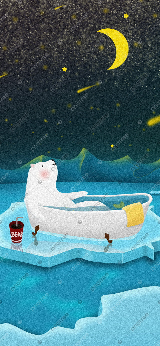 Winter Day Sign Polaris Mandi Penguin Starry Night Good Morning Cold Fresh, Li Dong, Hello Musim Sejuk, Polaris llustration image