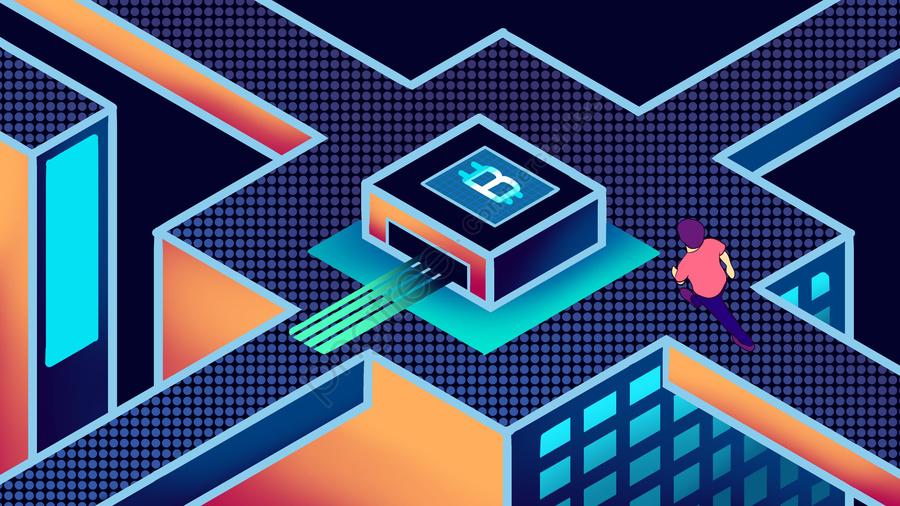 Bitcoin 25d технологии чувство ручной росписью плаката обои, Bitcoin, 2.5d, Наука и технологии llustration image