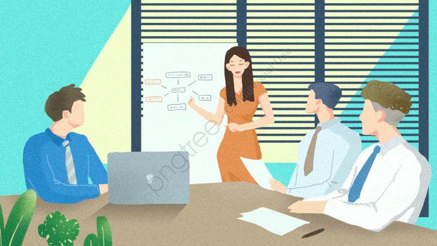 पीपीटी सफेदपोश बैठक की रिपोर्ट के साथ व्यापार लोगों, व्यवसाय करने वाला व्यक्ति, व्यापार, दफ्तर llustration image