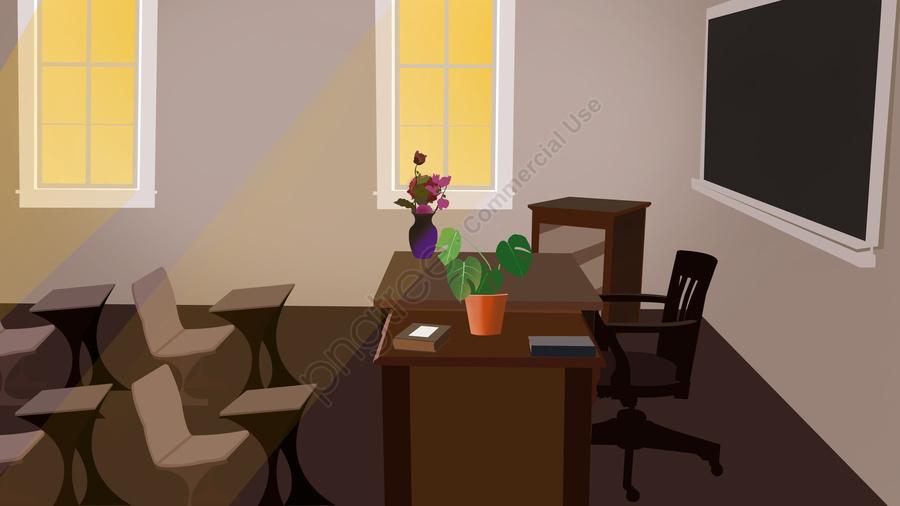 Business Office Scene, Business Office, Illustration, Simple llustration image