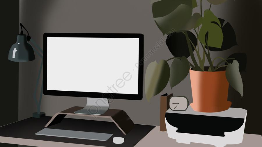 Business Office Scene 3, Business Office, Scenes, Illustration llustration image