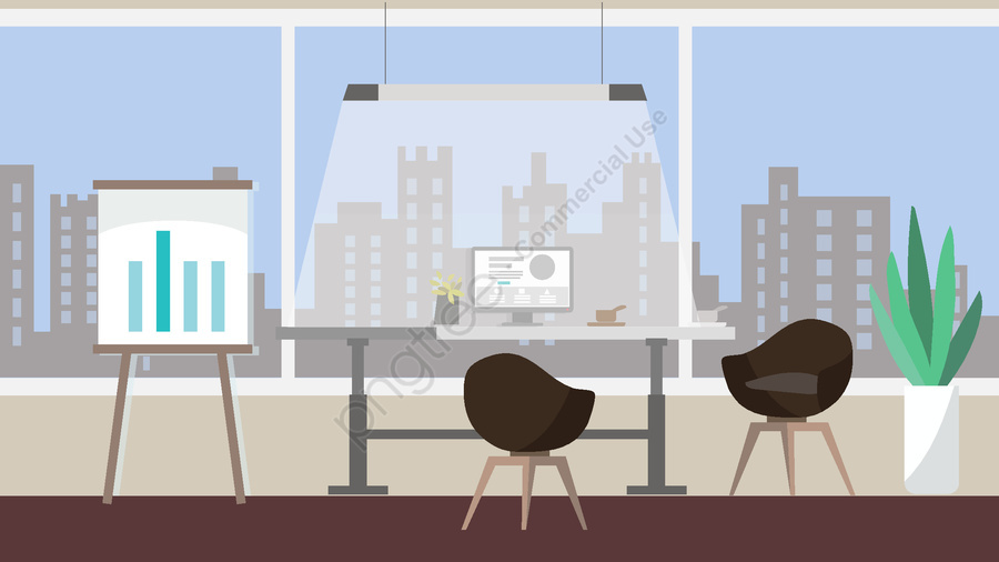 Business office place vector illustration, Business, Workplace, Vector Illustration llustration image