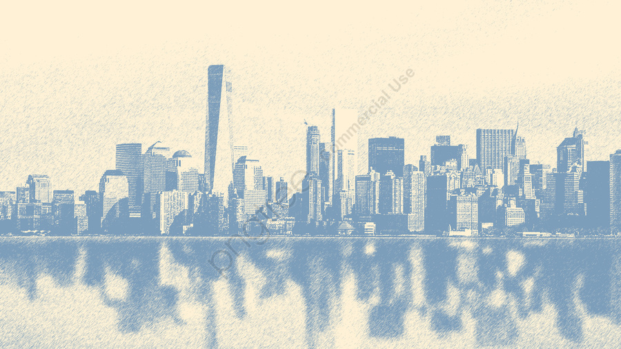 Hand Drawn City Silhouette Building Illustration Sketch, City Silhouette, Building Illustration, Sketches llustration image
