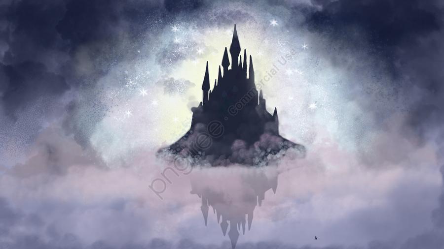 Sleeping Wonderland Castle, Cure, Dream, Sleepwalking llustration image