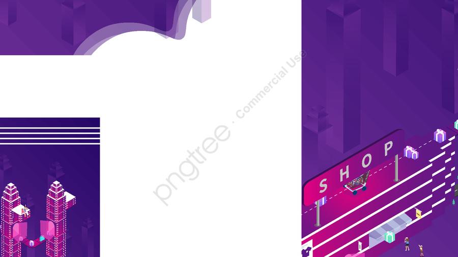 Small fresh purple gradient double eleven illustration, Double Eleven, High Building, Building llustration image
