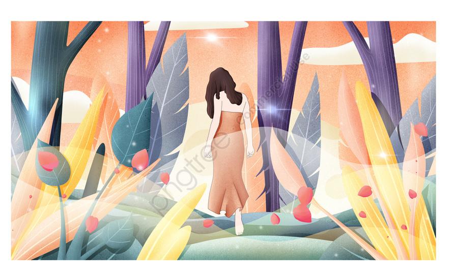 秋の風景秋手描きポスターイラスト壁紙 あき 手描き イラスト Illustration Image On Pngtree ロイヤリティフリー