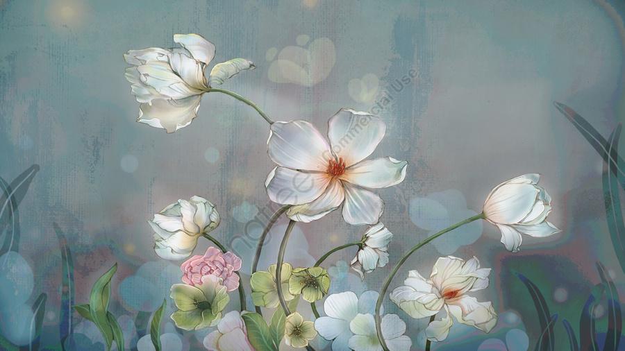 元の質感の花のビンテージのリアルなイラスト, 花, 植物, 壁紙 llustration image