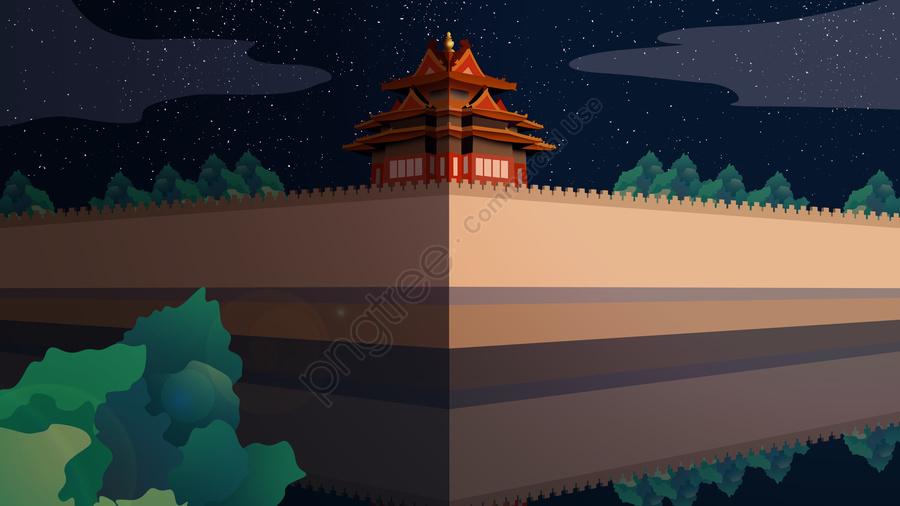 Ancient Building Corner The Of Forbidden City, Forbidden City Corner Building, Forbidden City, The Corner Of The Forbidden City llustration image