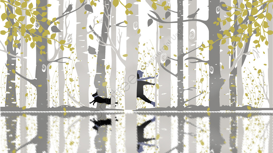 Good Morning Autumn And Winter Forest, Good Morning, Good Morning World, Autumn And Winter Forest llustration image