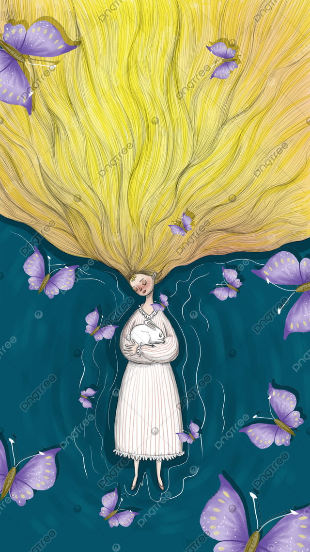 おやすみ、眠り、美しさ、治療法、イラスト, おやすみなさい, こんにちは, 癒し系 llustration image
