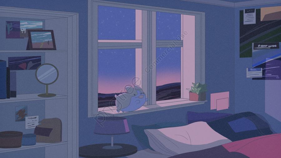 おやすみ こんにちは夜の部屋 かわいいペット けいじイラスト おやすみなさい こんにちは 夜 Illustration Image On Pngtree ロイヤリティフリー