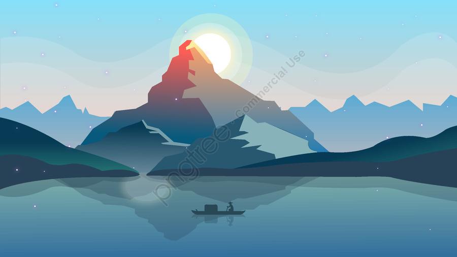Sunset in the world of good night, Good Night, World, Sunset llustration image