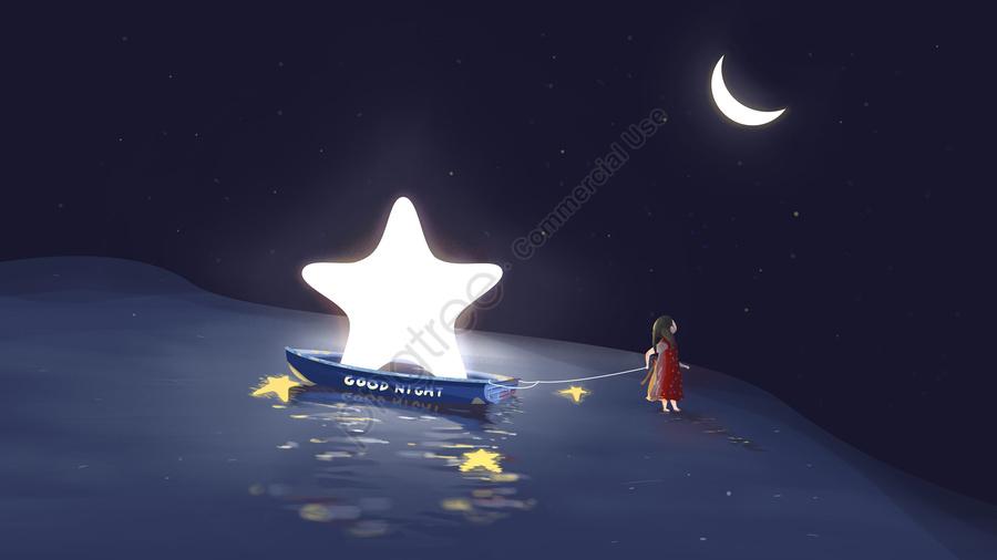 नमस्ते शुभ रात्रि इलाज मूल चित्रण वॉलपेपर पोस्टर स्लीपवॉकिंग वंडरलैंड, नमस्ते, शुभ रात्रि, हीलिंग प्रणाली llustration image