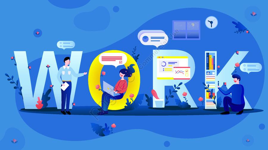 Работа работа бизнес офис сцена плоский ветер векторная иллюстрация, письмо, работа, фигура llustration image