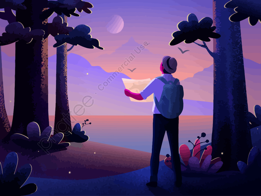 世界ユースデーのテーマイラスト, 人生, 愛してる, 旅行する llustration image
