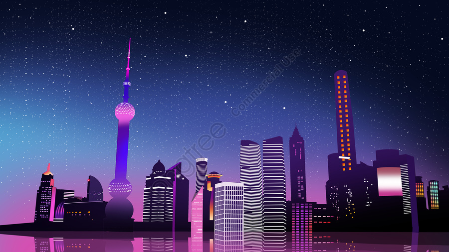 Creative Microscopic Paper Wind Midnight City Neon Night View Illustration, Midnight City, City building, The View Of The City llustration image