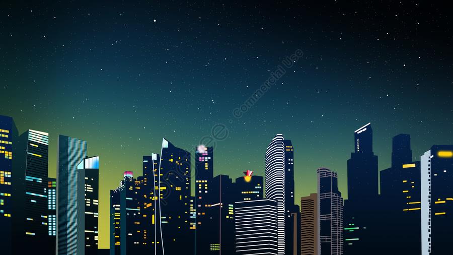 Vento De Papel Microscópico Criativo Cidade Da Meia Noite Luz Das Estrelas Arquitetura Urbana Ilustração Paisagem, Cidade Da Meia Noite, Paisagem Da Cidade, Edifício llustration image