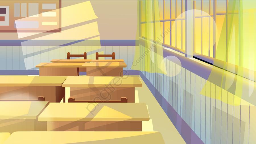 9月学期のユースキャンパス教室クラスデスクの新鮮なイラスト, 写真付き携帯電話, イラスト, モバイル壁紙 llustration image