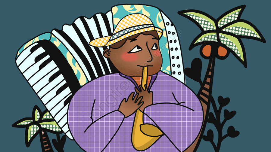Music Festival Jazz Business Funny Illustration Illustration