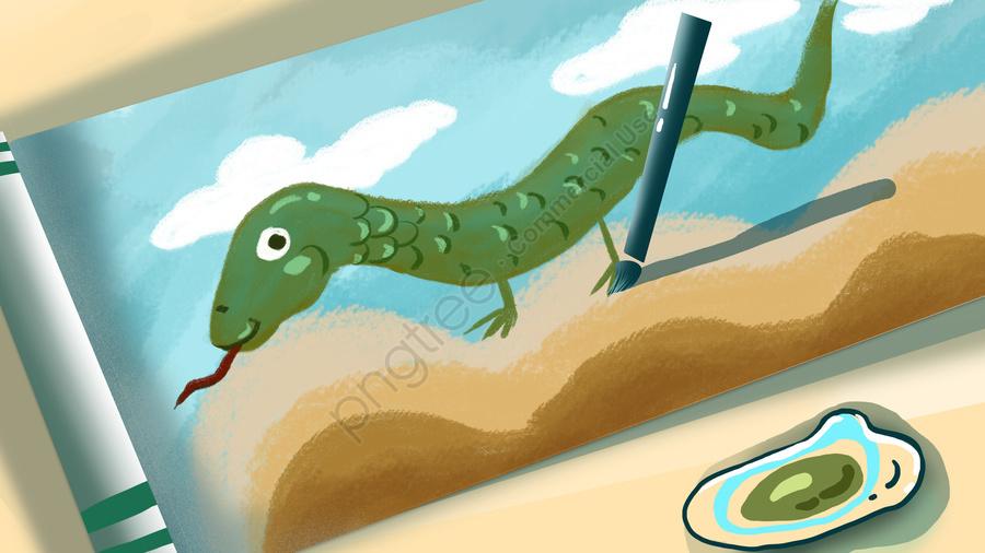 Идиома картина полна картины в картинке, оригинал, Обои постер, Живопись змей llustration image