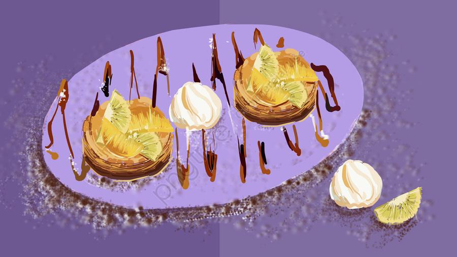 Pastry Puff Fruit Fresh Illustration, Pastry, Puff, Fruit llustration image
