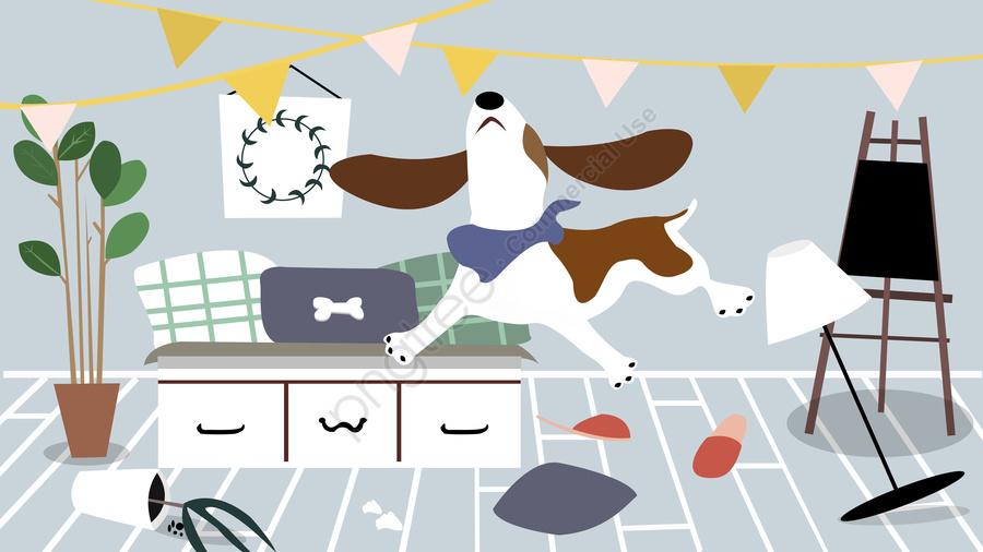 家にはかわいいペット、いたずらな、風変わりな、日、ペット、毎日のオリジナルイラストがあります, ペット, いたずらな, トリックオアトリート llustration image
