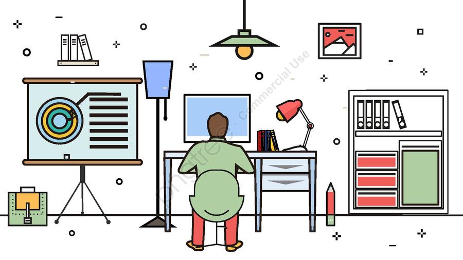 Programmer Cartoon Jobs Computer Illustration Image On Pngtree