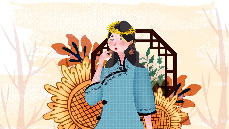 Republic of china students style illustration, 中華民国, 学生, 学生服 llustration image