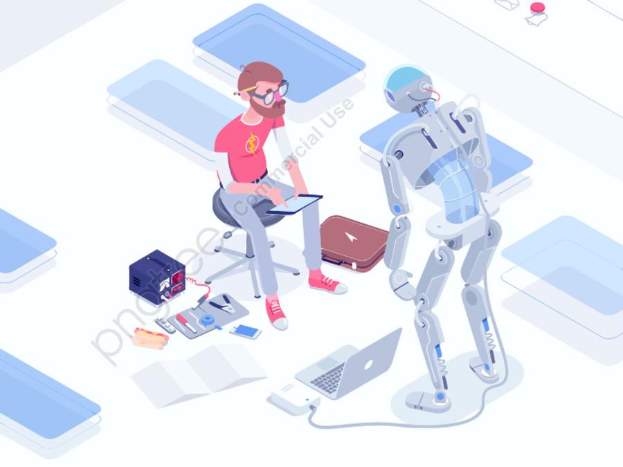Vector futuristic technology artificial intelligence illustration, Robot, Technology, Future llustration image