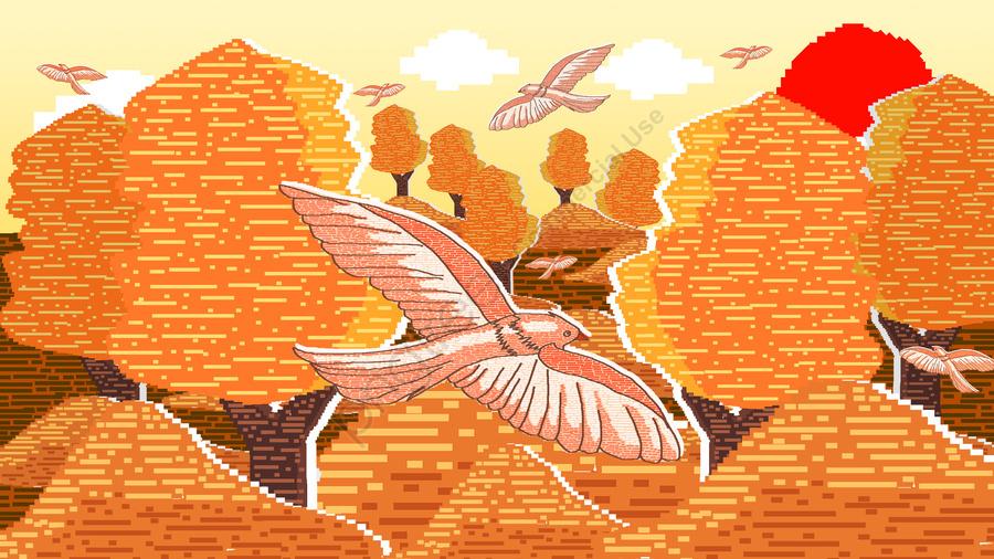 80 के दशक रेट्रो पिक्सेल शरद ऋतु परिदृश्य चित्रण, 80 के दशक के रेट्रो पिक्सेल शरद ऋतु परिदृश्य चित्रण, 80s रेट्रो पिक्सेल, शरद ऋतु परिदृश्य चित्रण llustration image