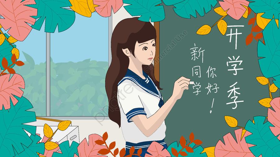 Các Bạn Học Mới Giới Thiệu Bản Thân Trong Buổi Khai Giảng Lớp Vào Tháng 9, Mùa Học Tháng Chín, Xin Chào Các Bạn Mới, Sự Kiện Chào Mừng llustration image