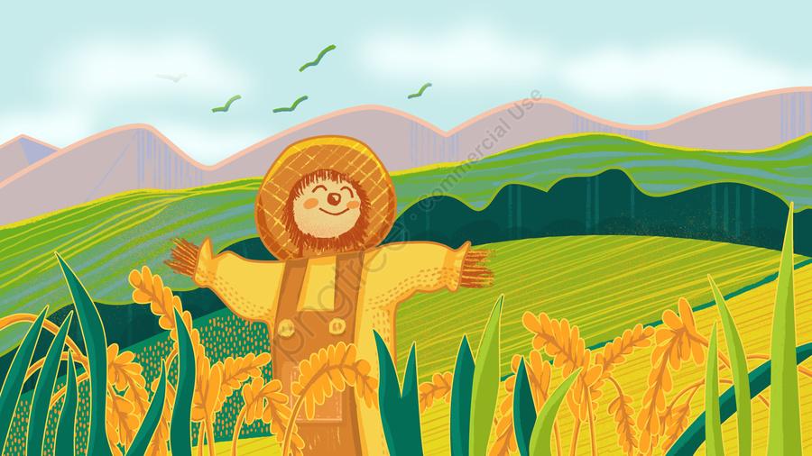 中国初の農民収穫祭ストロークストロークイラスト, 社会生活, 収穫祭, 農家 llustration image